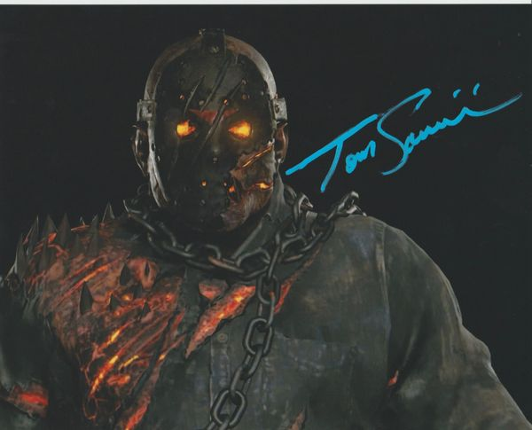 Tom Savini autograph 8x10, Friday the 13th Video Game