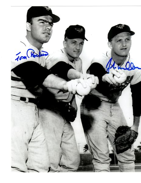 John Miller and Tom Phoebus autograph 8x10, Baltimore Orioles