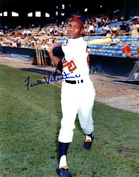 Fred Valentine autograph 8x10, Baltimore Orioles