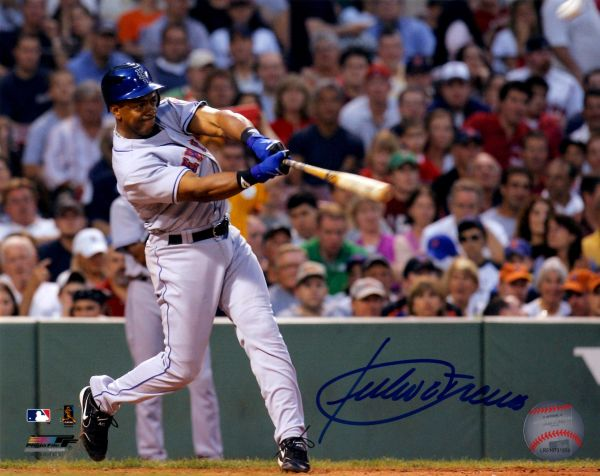 Julio Franco autograph 8x10, New York Mets