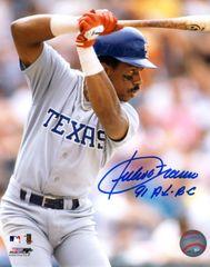 Julio Franco autograph 8x10, Texas Rangers 91 AL BA
