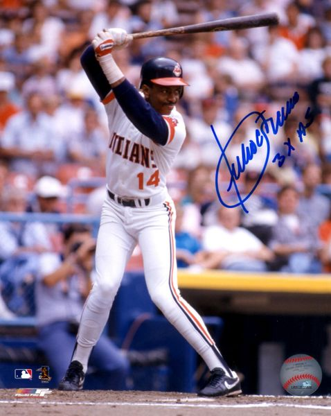 Julio Franco autograph 8x10, Cleveland Indians 3x AS