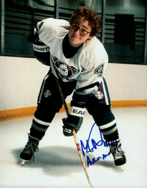 Matt Doherty autograph 8x10 Mighty Ducks; Les Averman