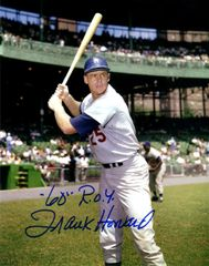 Frank Howard autograph 8x10, L.A. Dodgers, Inscription/ 60 ROY