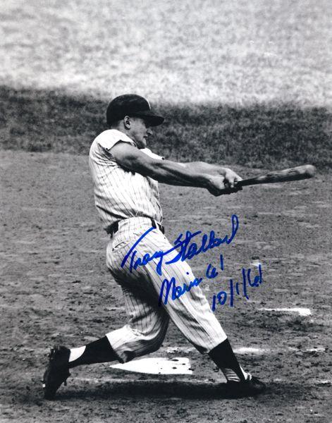 Tracy Stallard 8x10, Boston Red Sox w/ Roger Maris Inscription