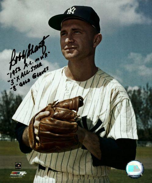 Bobby Shantz, autographed 8x10, New York Yankees, 3 inscriptions