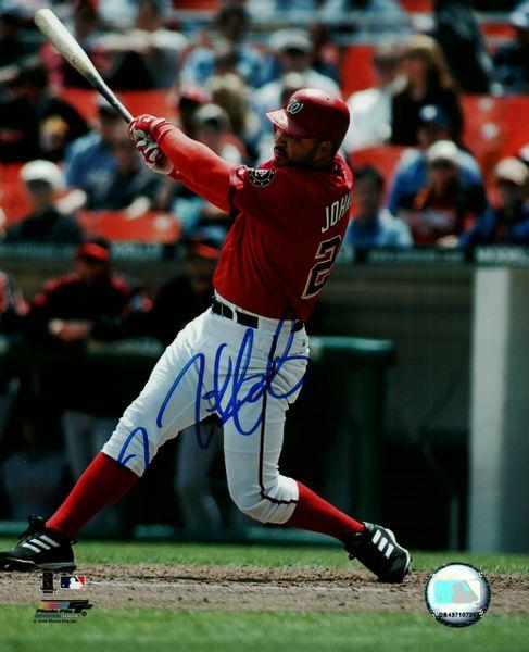 Nick Johnson, autographed 8x10, Washington Nationals