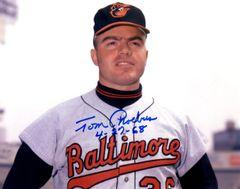 Tom Phoebus autograph 8x10, Baltimore Orioles, Inscrip/ 4-27-68