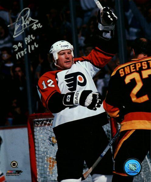 Tim Kerr autograph 8x10, Philadelphia Flyers
