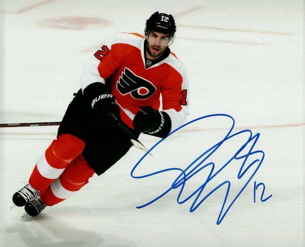 Simon Gagne autograph 8x10, Philadelphia Flyers