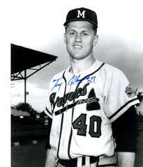 Tony Cloninger autograph 8x10, Atlanta Braves