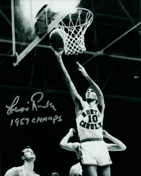 Lennie Rosenbluth autograph 8x10, UNC Tarheels, 1957 Champs