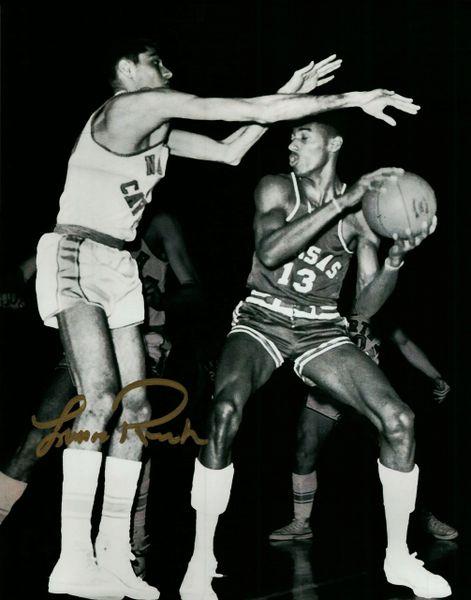 Lennie Rosenbluth autograph 8x10, North Carolina Tar Heels, Defense on Wilt