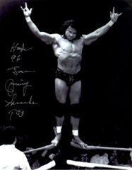 Jimmy Super Fly Snuka autograph 8x10, with inscription