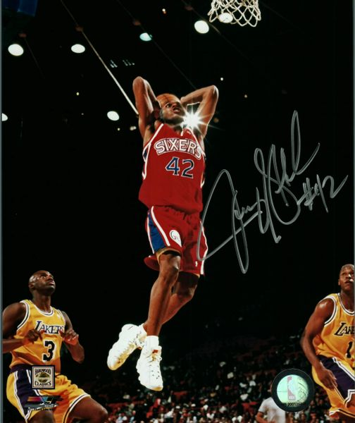 Jerry Stackhouse autograph 8x10, Philadelphia 76ers