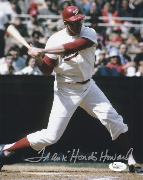 "Frank Howard autograph 8x10, Washington Senators, ""Hondo"" inscription, JSA"