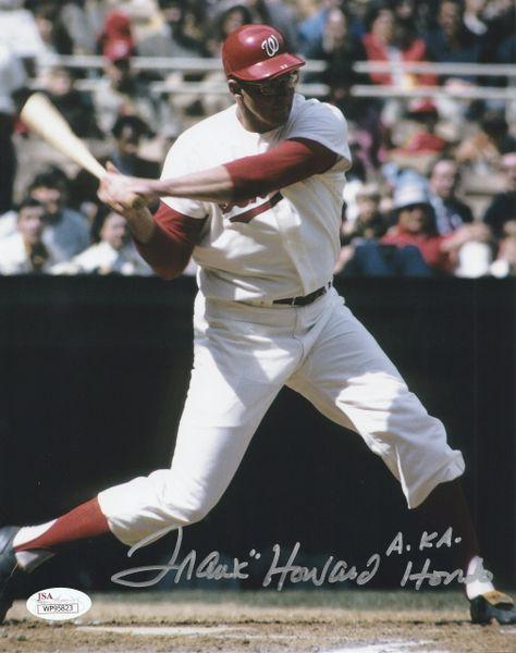 """Frank Howard autograph 8x10, Washington Senators, AKA """"Hondo"""", JSA"""