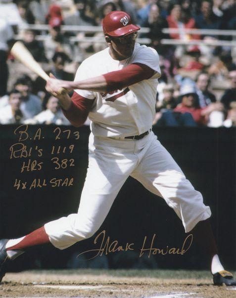 Frank Howard autograph 8x10, Washington Senators, 4 inscriptions