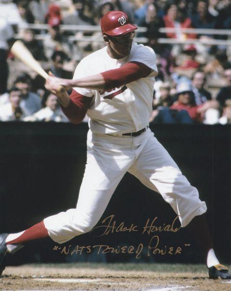 "Frank Howard autograph 8x10, Washington Senators, ""Nats Tower of Power"""