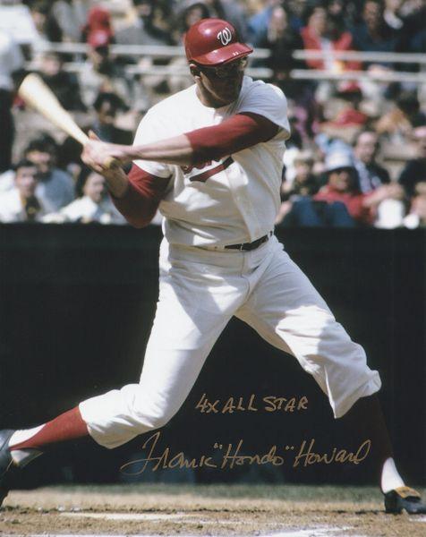 Frank Howard autograph 8x10, Washington Senators, 4x All Star inscription
