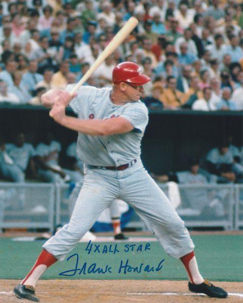 Frank Howard autograph 8x10, Washington Senators, 4x All Star