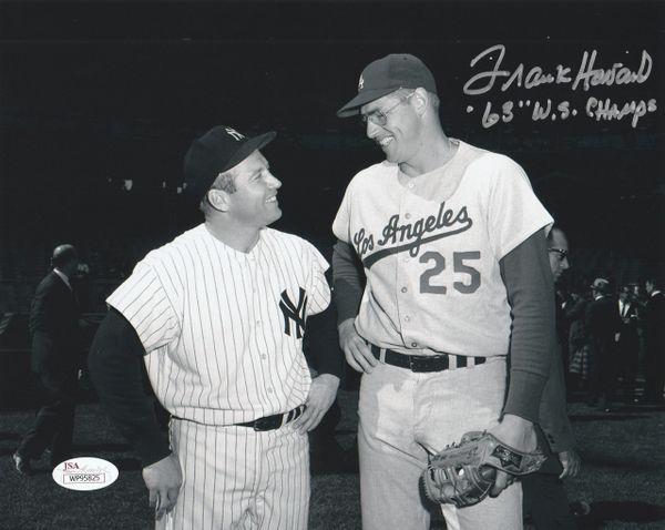 Frank Howard autograph 8x10, LA Dodgers, 68 WS Champs, JSA