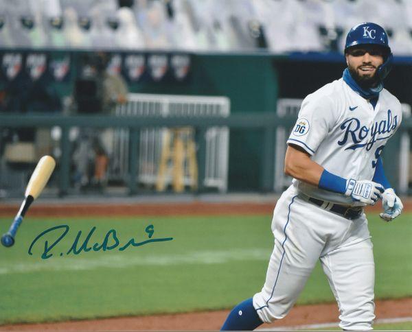 Ryan McBroom autograph 8x10, Kansas City Royals