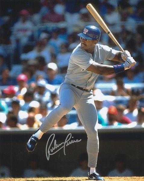Ruben Sierra autograph 8x10, Texas Rangers