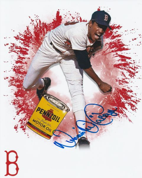 """Dennis """"Oil Can"""" Boyd autograph 8x10, Boston Red Sox, COOL image"""
