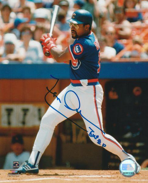 Leon Durham autograph 8x10, Chicago Cubs, Bull inscription
