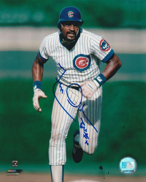 Leon Durham autograph 8x10, Chicago Cubs, Bull