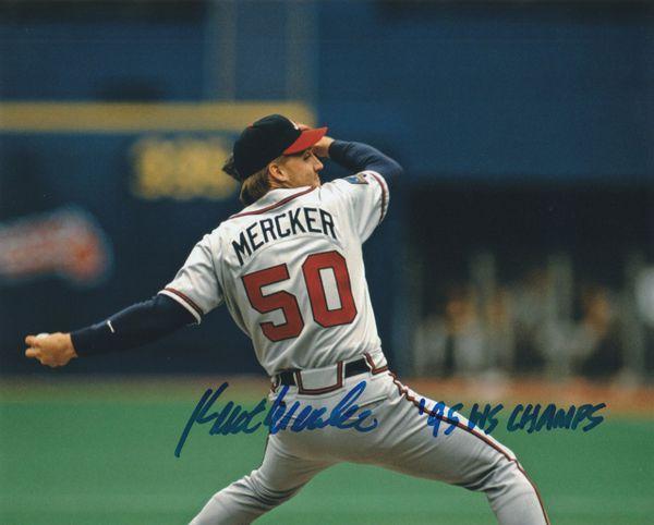 Kent Mercker autograph 8x10, Atlanta Braves, 95 WS Champs