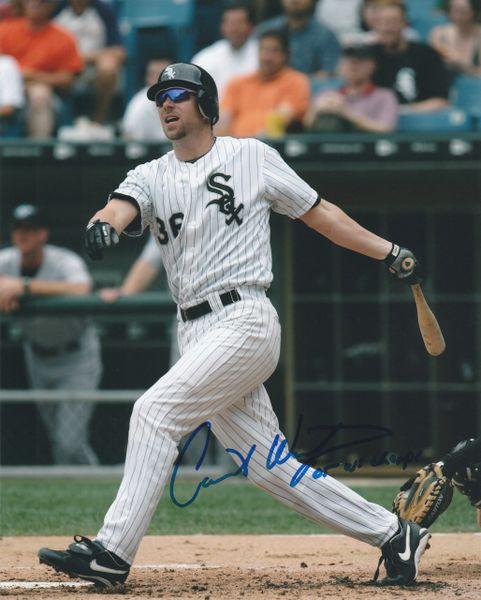Chris Widger autograph 8x10, Chicago White Sox, 05 WS Champs