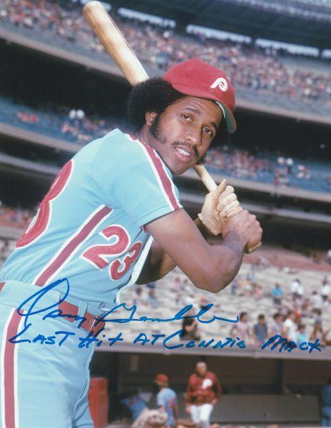 Oscar Gamble autographed 8x10, Philadelphia Phillies, RARE