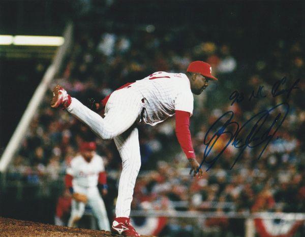 Ben Rivera autographed 8x10, Philadelphia Phillies, 93 NL Champs