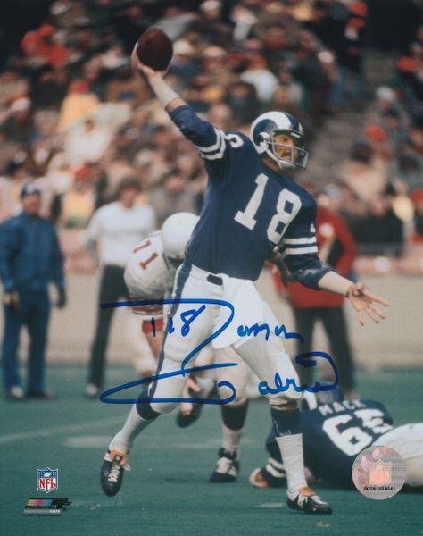 Roman Gabriel autograph 8x10, Los Angeles Rams