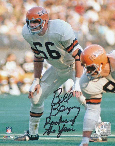 Bill Bergey autograph 8x10, Cincinnati Bengals, Rookie of the Year