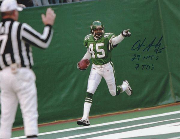 Otis Smith autograph 8x10, New York Jets, cool inscriptions!