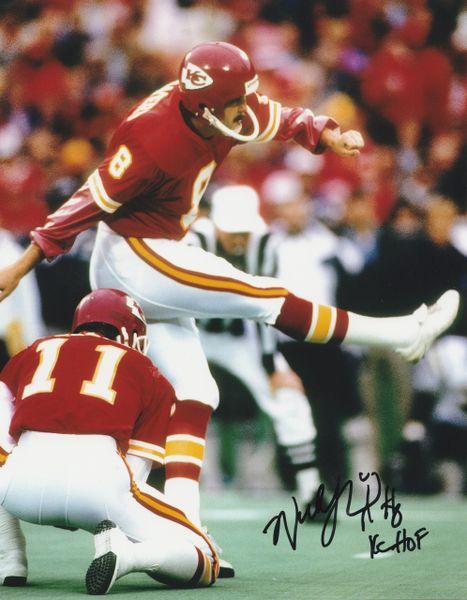 Nick Lowery autograph 8x10, Kansas City Chiefs, KC HOF