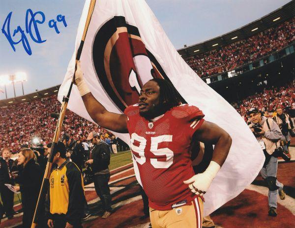 Ricky Jean-Francois autograph 8x10, San Francisco 49ers