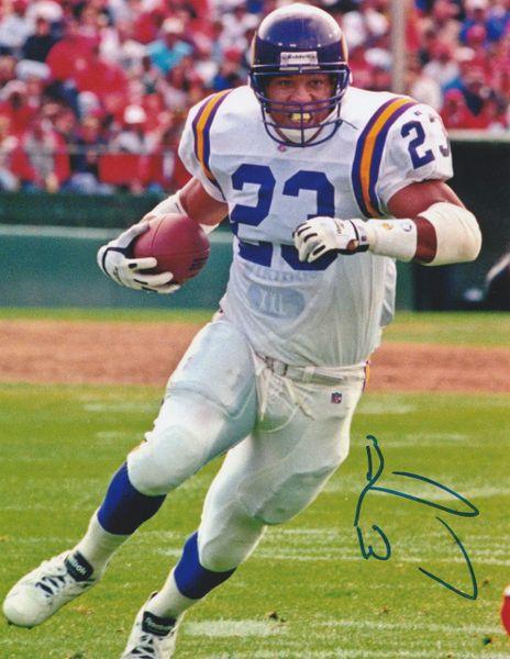 Barry Word autograph 8x10, Minnesota Vikings