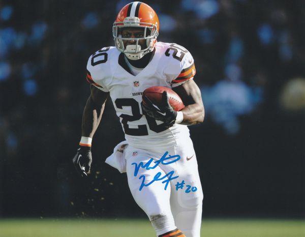 Montario Hardesty autograph 8x10, Cleveland Browns