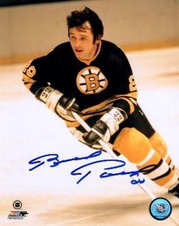 Brad Park autograph 8x10, Boston Bruins