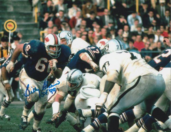 Billy Shaw autograph 8x10, Buffalo Bills, HOF