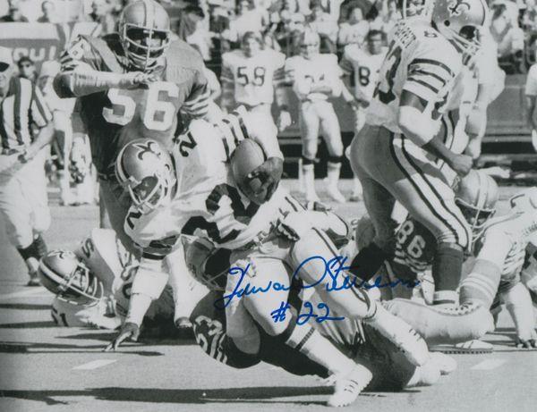 Howard Stevens autograph 8x10, New Orleans Saints