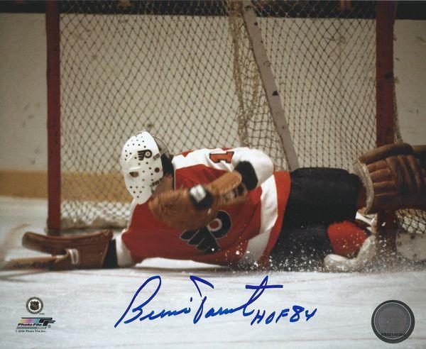 Bernie Parent autograph 8x10, Philadelphia Flyers, HOF 84
