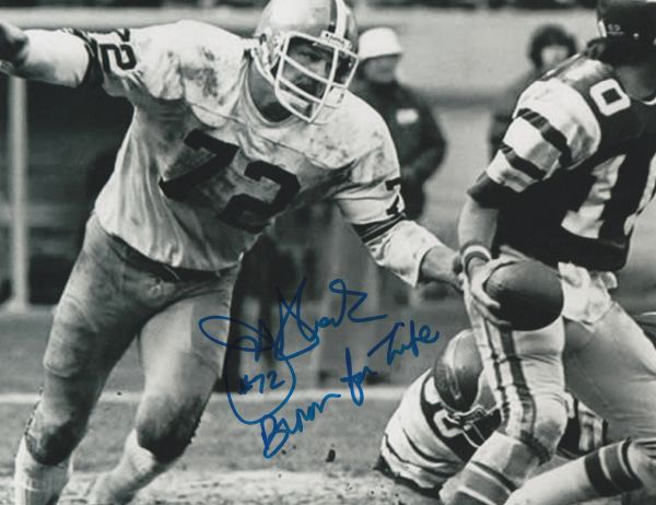 Jerry Sherk autograph 8x10, Cleveland Browns, Brown For Life