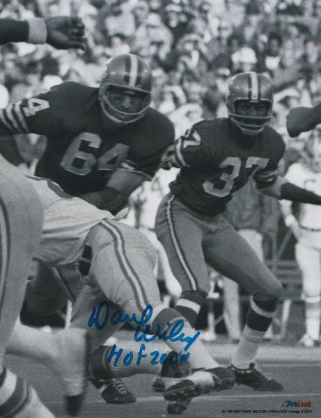 Dave Wilcox autograph 8x10, San Francisco 49ers, HOF 00