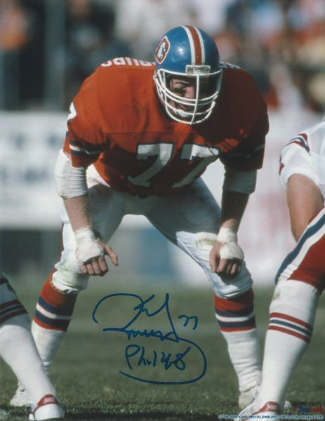 Karl Mecklenburg autograph 8x10, Denver Broncos, Phil 14:8