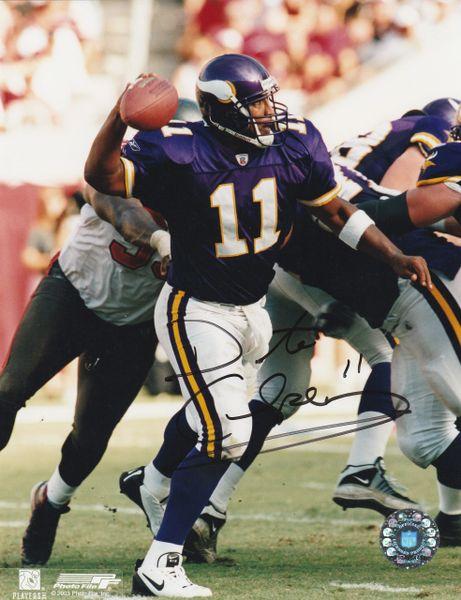 Daunte Culpepper autograph 8x10, Minnesota Vikings